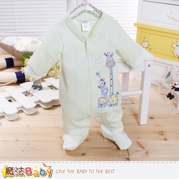 魔法Baby 包腳連身衣 法國設計細絲絨包屁衣 k60239