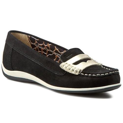 GEOX-D.YUKI 休閒鞋 羊麂 黑色