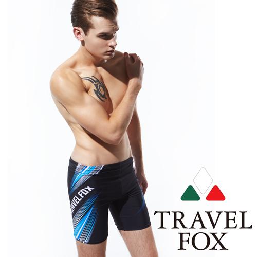 【TRAVELFOX 旅狐】極速線條大男五分泳褲(C15903)