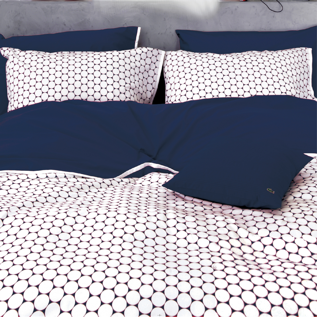 【LACOSTE】法國原裝 OTHELLO 雙人床組四件組