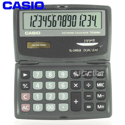 【CASIO】攜帶式14位商用計算機SL-240LB