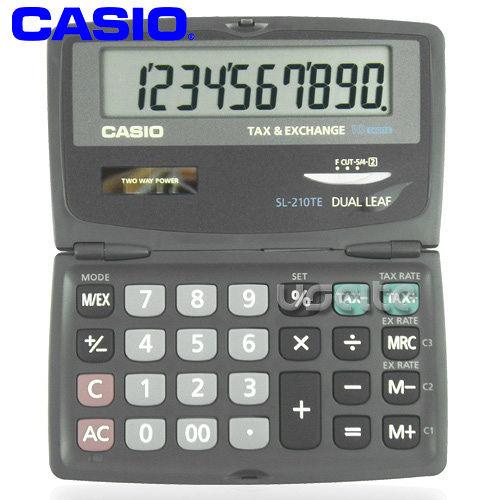 【CASIO】攜帶式10位商用計算機SL-210TE