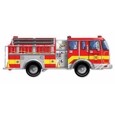 美國 Melissa & Doug 大型地板拼圖 - 巨型消防車【24 片】- 特大尺寸,成就感加倍