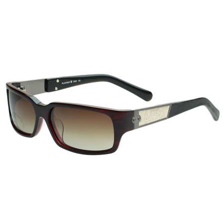 PLAYBOY-時尚太陽眼鏡(暗紅)PB83057