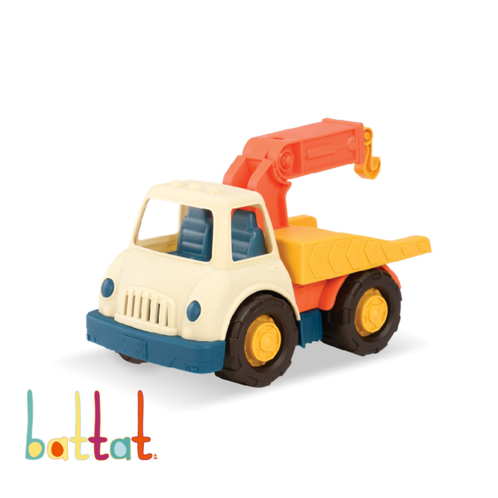 【美國B.Toys感統玩具】道路救星拖車_WW系列