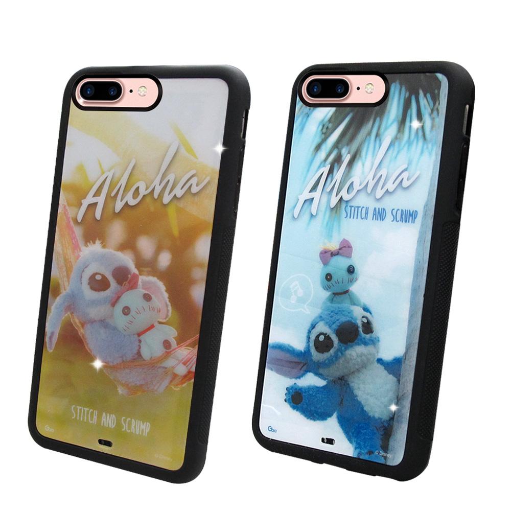 迪士尼正版授權 iPhone 8 Plus / 7 Plus 5.5吋 史迪奇布偶版 防滑手機殼(吊床/hi)