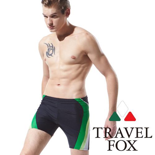 【TRAVELFOX 旅狐】漸層剪接大男五分褲(C15910)