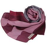 BURBERRY格紋絲綢緞面圍巾(紅色)