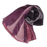 BURBERRY格紋絲綢緞面圍巾(玫紅色)