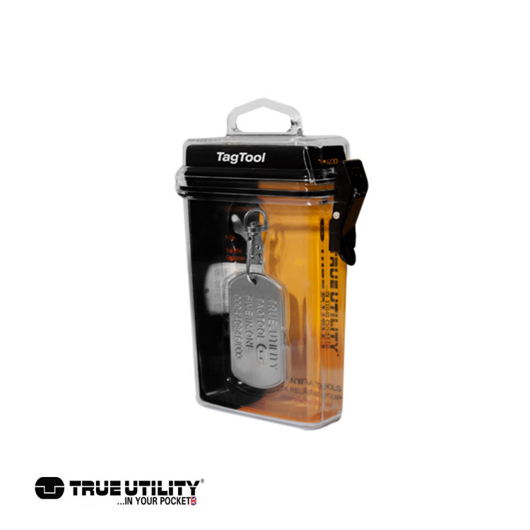 TRUE UTILITY TagTool 5合1鐵牌鑰匙圈工具組 城市綠洲 戶外、工具組、鑰匙圈、英國