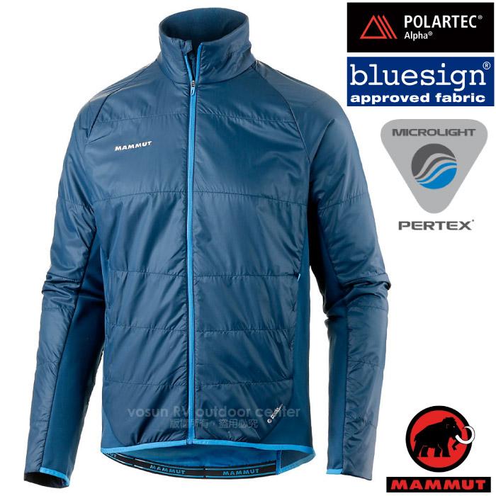 【瑞士 MAMMUT 長毛象】男新款 Aenergy IN 極輕量防風防潑透氣機能保暖夾克外套(Polartec ALPHA高透濕性).適登山旅遊/21590-5325 獵戶藍