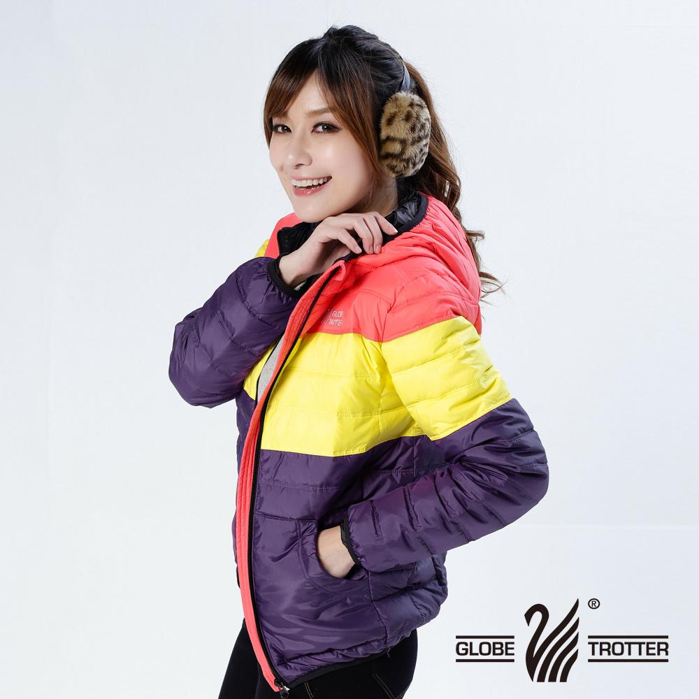 【遊遍天下】親子款JIS90%羽絨防風防潑水羽絨外套A075桔紅/黃/紫