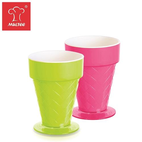 【MULTEE摩堤_鑄鐵鍋系列用品】粉彩冰淇淋甜筒杯─一組2入