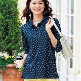日本Portcros 現貨-高雅七分袖吸汗速乾polo衫(共二色/L-LL)