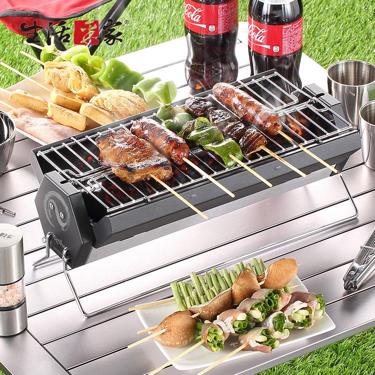 【生活采家】歐文派對戶外便攜輕巧烤肉架(附收納袋)#47004