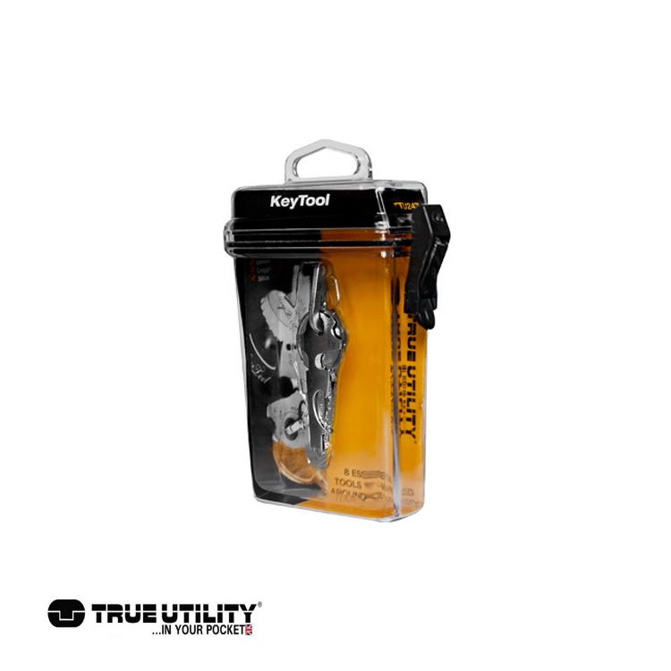 TRUE UTILITY KeyTool 8合1迷你鑰匙圈工具組 城市綠洲 戶外、工具組、鑰匙圈、英國