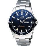 MIDO Ocean Star 200m潛水機械腕錶-海洋藍x銀/41mm M0264301104100