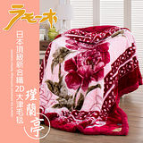 【FOCA】頂極日本2D拉舍爾超細纖維雙層保暖舒毯180x230cm-瑾蘭亭