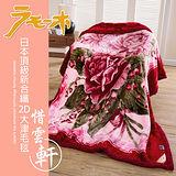 【FOCA】頂極日本2D拉舍爾超細纖維雙層保暖舒毯180x230cm-惜雲軒