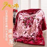 【FOCA】頂極日本2D拉舍爾超細纖維雙層保暖舒毯180x230cm-鑲憶閣