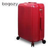 【Bogazy】城市行者 25吋電子抗刮PC旅行箱(紅色)
