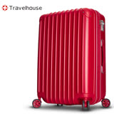 【Travelhouse】獨領風潮 24吋電子抗刮PC旅行箱(紅色)