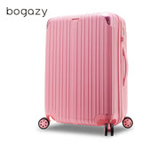 【Bogazy】祕密花園 20吋PC可加大鏡面行李箱(玫瑰粉)