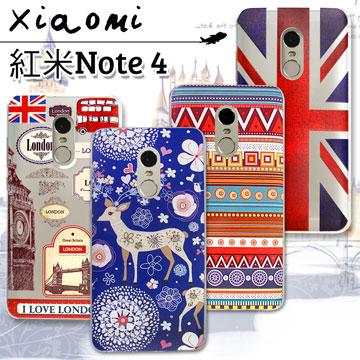 VXTRA  Xiaomi 紅米 Note 4 率性風格 彩繪軟式保護殼 手機殼