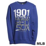 (男)MLB-波士頓紅襪隊厚棉T恤-藍