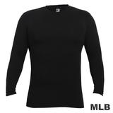 (男)MLB-德州遊騎兵隊圓領熱力棉T恤-黑