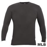 (男)MLB-德州遊騎兵隊圓領熱力棉T恤-深灰