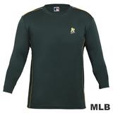 (男)MLB-奧克蘭運動家隊LOGO排汗T恤-深綠