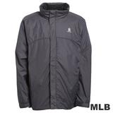 (男)MLB-紐約洋基隊可拆帽風衣外套-深灰
