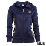 (女)MLB-紐約洋基隊金條運動外套-深藍