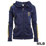(女)MLB-紐約洋基隊運動連帽外套-深藍