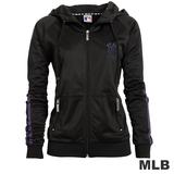 (女)MLB-紐約洋基隊運動連帽外套-黑