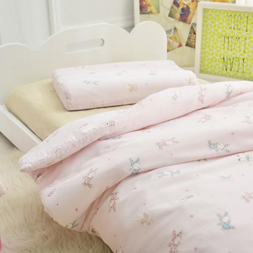 IN HOUSE-粉紅兔兔-兒童六層紗被
