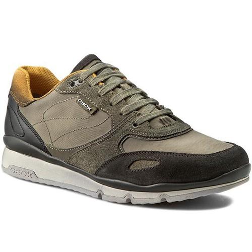 GEOX - U SANDRO 運動鞋 布料網 布料 牛皮