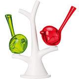 《KOZIOL》Pi樹梢小鳥調味罐(紅綠)