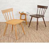 實木五條直背餐椅/休閒椅/洽談椅/書桌椅/單椅 2色