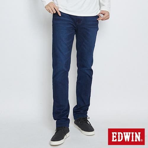 EDWIN 迦績褲JERSEYS復古棉直筒褲-男-酵洗藍