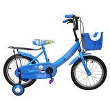 Adagio 16吋大頭妹打氣胎童車附置物籃-藍色(台灣製造)