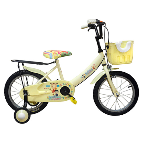 Adagio 16吋大頭妹打氣胎童車附置物籃-米色(台灣製造)