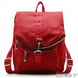 【法國盒子】韓版造型多隔層後背包(紅色)16001