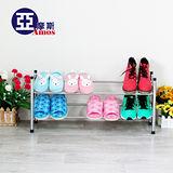 【Amos】歐式二層伸縮鞋架/置物架