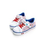 HelloKitty 海洋輕量透氣腳床型抗菌防臭減壓鞋墊氣墊運動鞋 715922-白藍