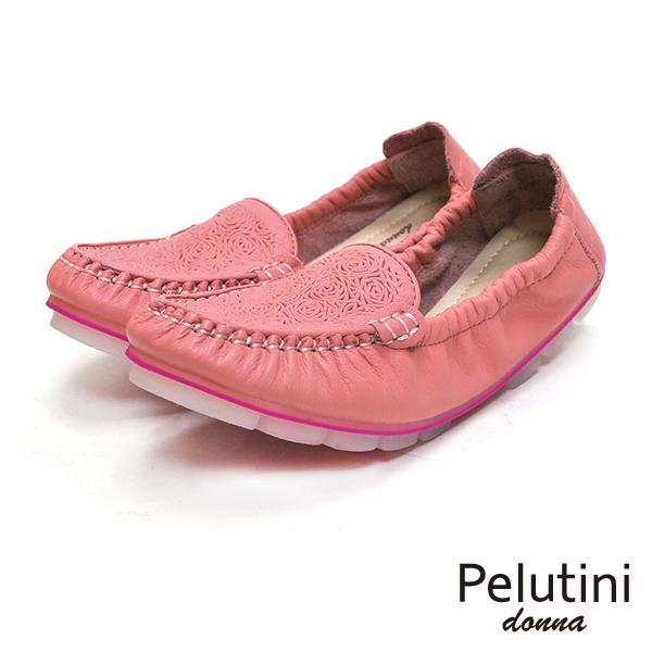 【Pelutini】donna果凍膠底休閒女鞋 粉紅(8332W-PINK)