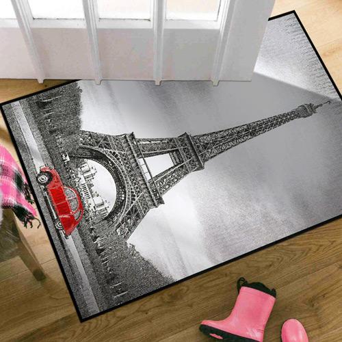 范登伯格 快樂頌 異國風情絲質地毯/地墊-巴黎鐵塔60x100cm