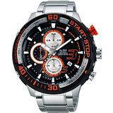 ALBA SignA 疾速奔馳計時限量腕錶-黑/50mm VD57-X048D(AM3141X1)