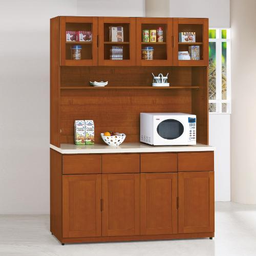 AS-愛娃樟木色5.3尺高餐櫃